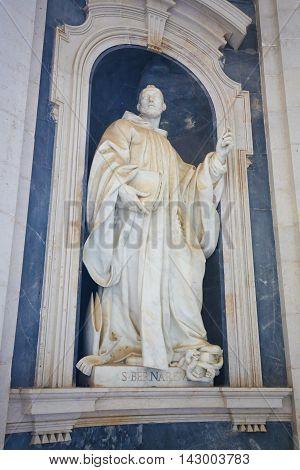 Mafra Palace - Statue Of Saint Bernard