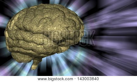 Psychedelic background brain 3D Rendered