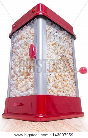 Red And Gray Full Popcorn Maker On Table