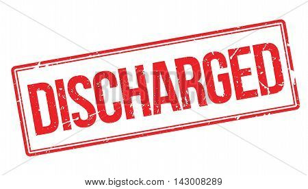 Discharged Rubber Stamp