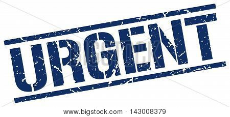 urgent stamp. blue grunge square isolated sign