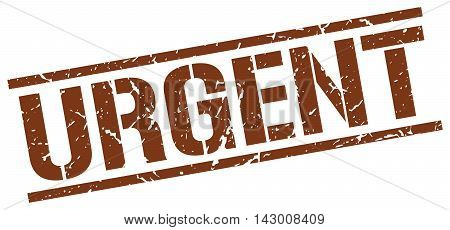 urgent stamp. brown grunge square isolated sign