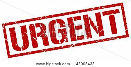 urgent stamp. red grunge square isolated sign