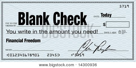 Blank Check - Financial Freedom From Wealth