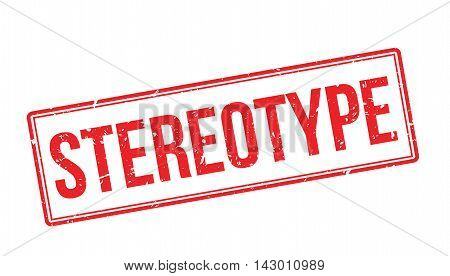 Stereotype Rubber Stamp