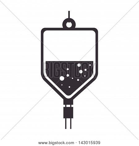 iv bag medicine hospital saline medical health vector illustration isolated