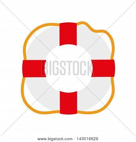 nautical float circle protection rescue safety survival vector illustration isolated
