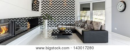 Modern Interior In Black And White Colors