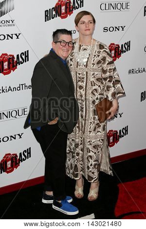 NEW YORK-AUG 3: Actress Lea DeLaria (L) and fashion editor Chelsea Fairless attend the 'Ricki And The Flash' New York premiere at AMC Lincoln Square Theater on August 3, 2015 in New York City.
