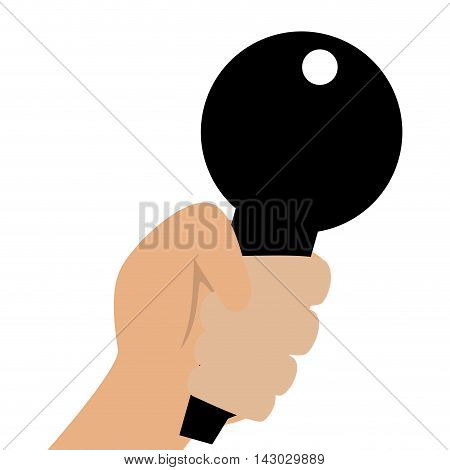 lock hand  security safety safeguard object closed safe vector illustration isolated