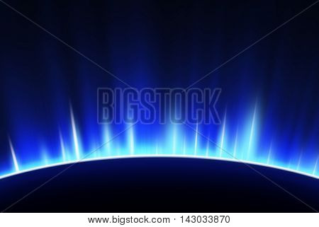space background image with luminescence of beams