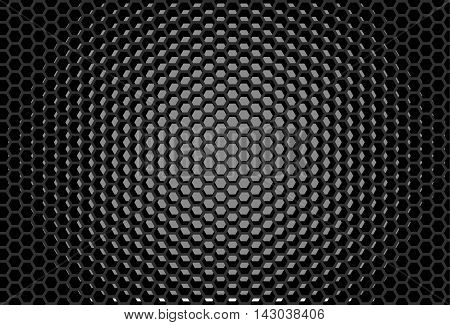 Hexagonal grid design Honeycomb pattern Digital background