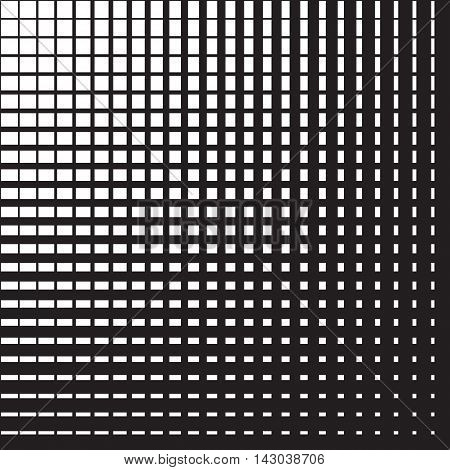 Line halftone pattern with gradient effect. Perpendicular intersecting lines. Template for backgrounds and stylized textures. Design element. Vector illustration in EPS8 format.