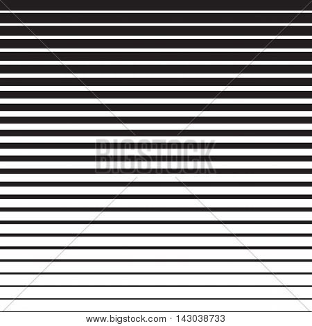 Line halftone pattern with gradient effect. Gorizontal lines. Template for backgrounds and stylized textures. Design element. Vector illustration in EPS8 format.