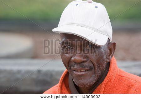 Portrait Elderly African American Man