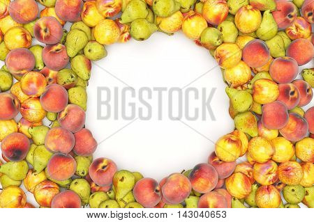 Fruits isolted on black background. High quality 3d rendering