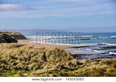 Beach View Near Slope Point, New Zealand