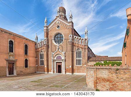 14th century church of Madonna dell'Orto in Venice Italy