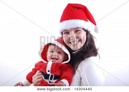Santa Baby and Mom