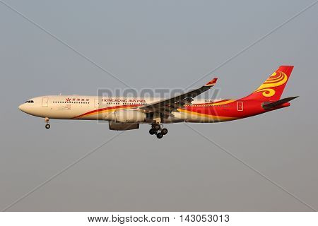 Hongkong Airlines Airbus A330-300 Airplane Shanghai Hongqiao Airport