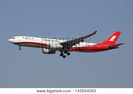 Shanghai Airlines Airbus A330-300 Airplane Hongqiao Airport