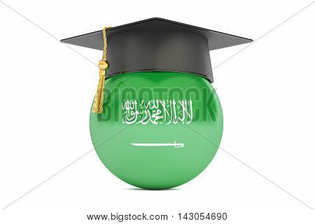 education and study in Saudi Arabia concept 3D rendering isolated on white background
