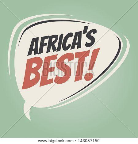 africa's best retro cartoon balloon