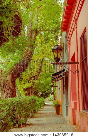 COLONIA DEL SACRAMENTO, URUGUAY - MAY 04, 2016: the city is famous because of its city center and it was named a world heritage site by the unesco.