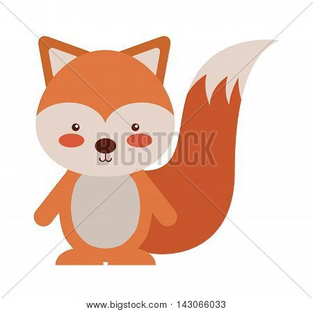 woodland chipmunk animal character cute icon vector illustration design vector illustration design