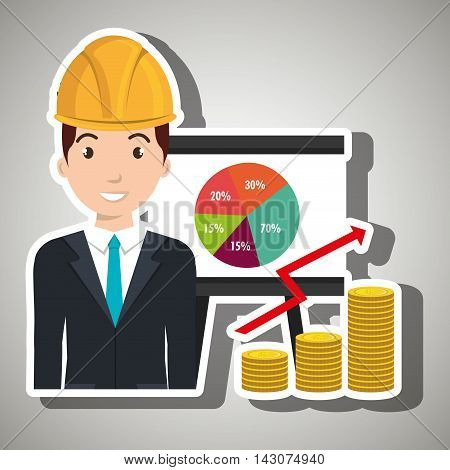 man economy money vector illustration graphic eps 10
