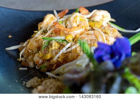 Padthai On Dish With Flower