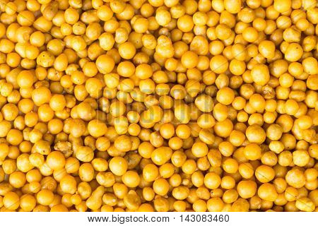 Group of yellow of fertilizer pellets for plant