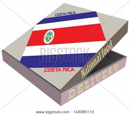 Creative packaging for the delivery of food the elements of statehood Costa Rica.