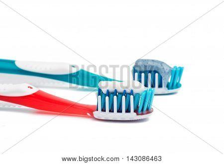 toothbrush dental equipment object on white background