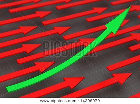 3D rendering of arrows