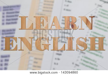 blur english tests with english text represent learning english