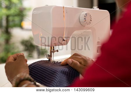 Sewing Process - Women making clothes with Sewing machine