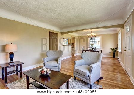 Open Floor Plan Dining Area. View From Living Room.