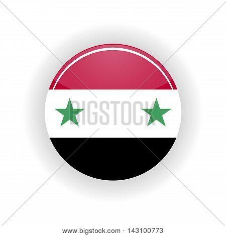 Syria icon circle isolated on white background. Damascus icon vector illustration