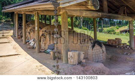Old Japanese kiln in Hasami, Nagasaki, Japan