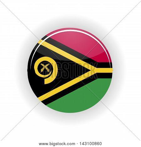 Vanuatu icon circle isolated on white background. Port Vila icon vector illustration