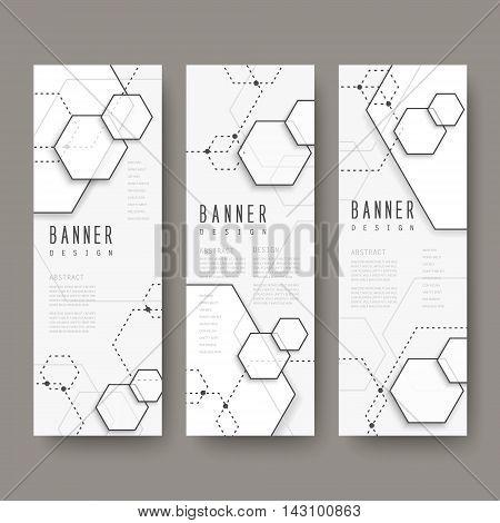 Simplicity Hexagon Element Banners Set