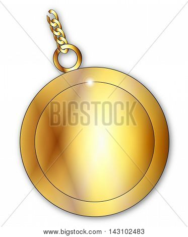 A typical lucky charm over a white background