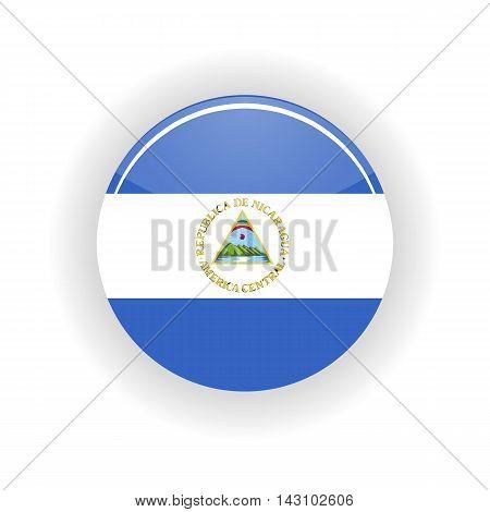 Nicaragua icon circle isolated on white background. Managua icon vector illustration