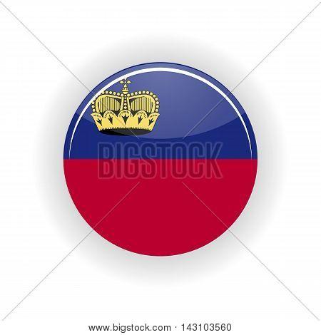 Liechtenstein icon circle isolated on white background. Vaduz icon vector illustration