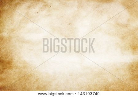 Old grunge paper background or texture. Yellowed paper texture for the design.