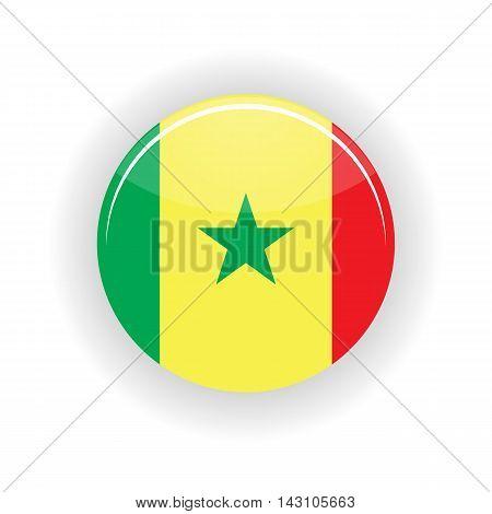 Senegal icon circle isolated on white background. Dakar icon vector illustration