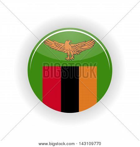 Zambia icon circle isolated on white background. Lusaka icon vector illustration