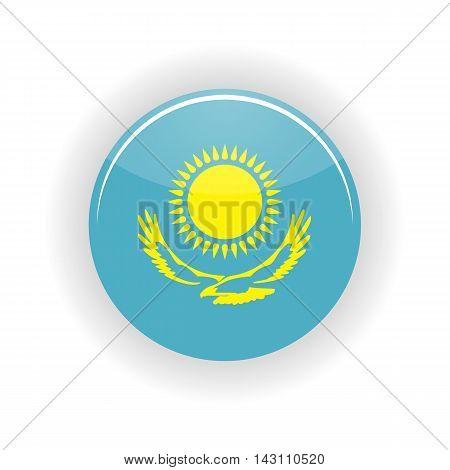 Kazakhstan icon circle isolated on white background. Astana icon vector illustration