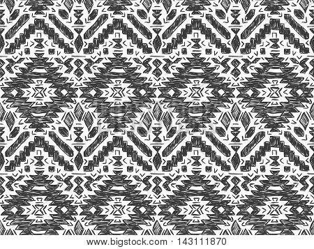 Boho Tie Dye Background Sketch Mexican Grey